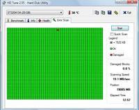 Segate ST320413A (20GB) Bad sector podczas dokładnego skanowania..
