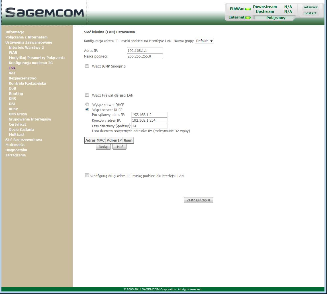 Sagemcom 2704 + drukarka wifi - - elektroda pl