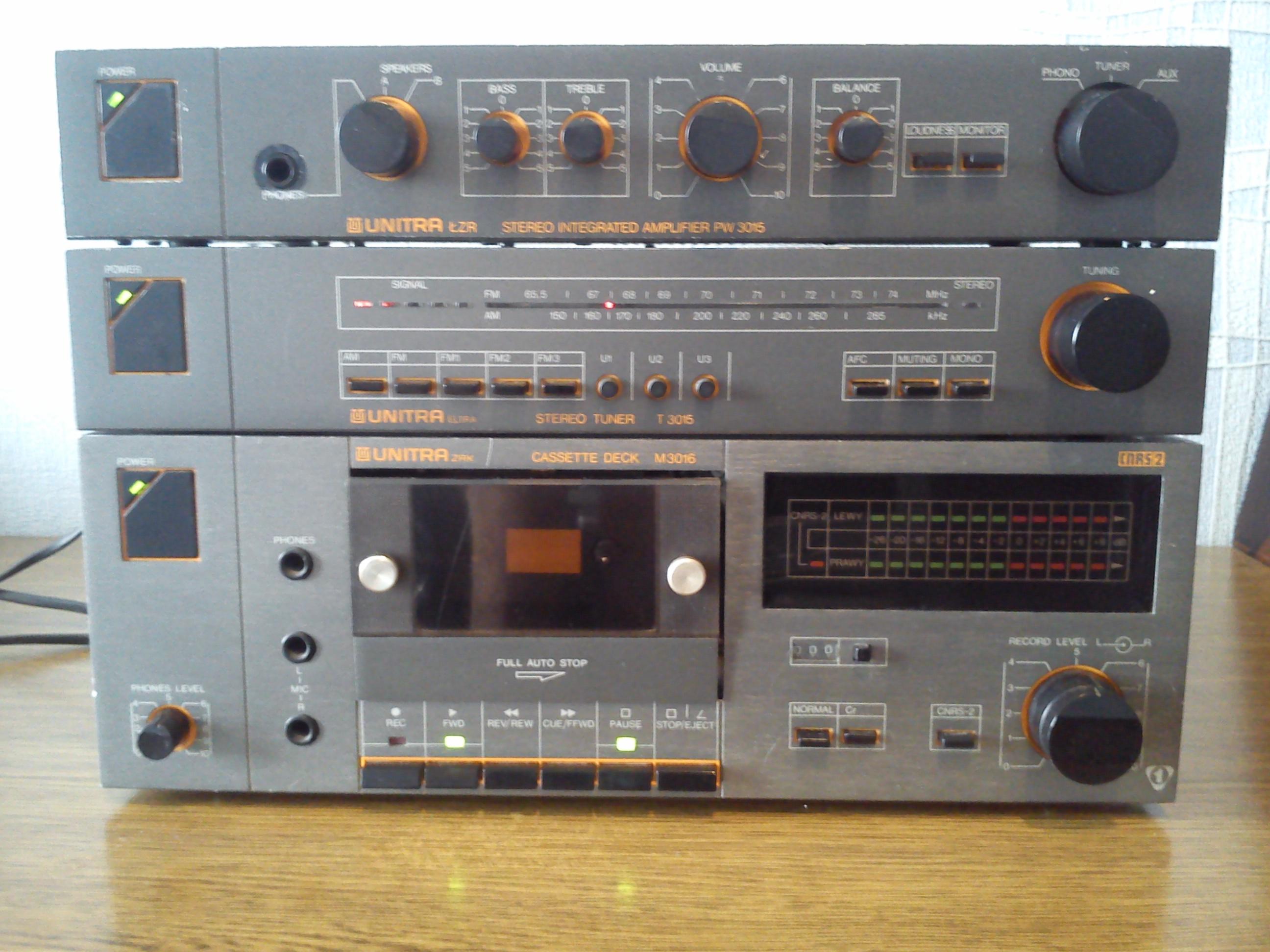 [Sprzedam] Wzmacniacz Unitra PW-3015 +tuner+magnetofon