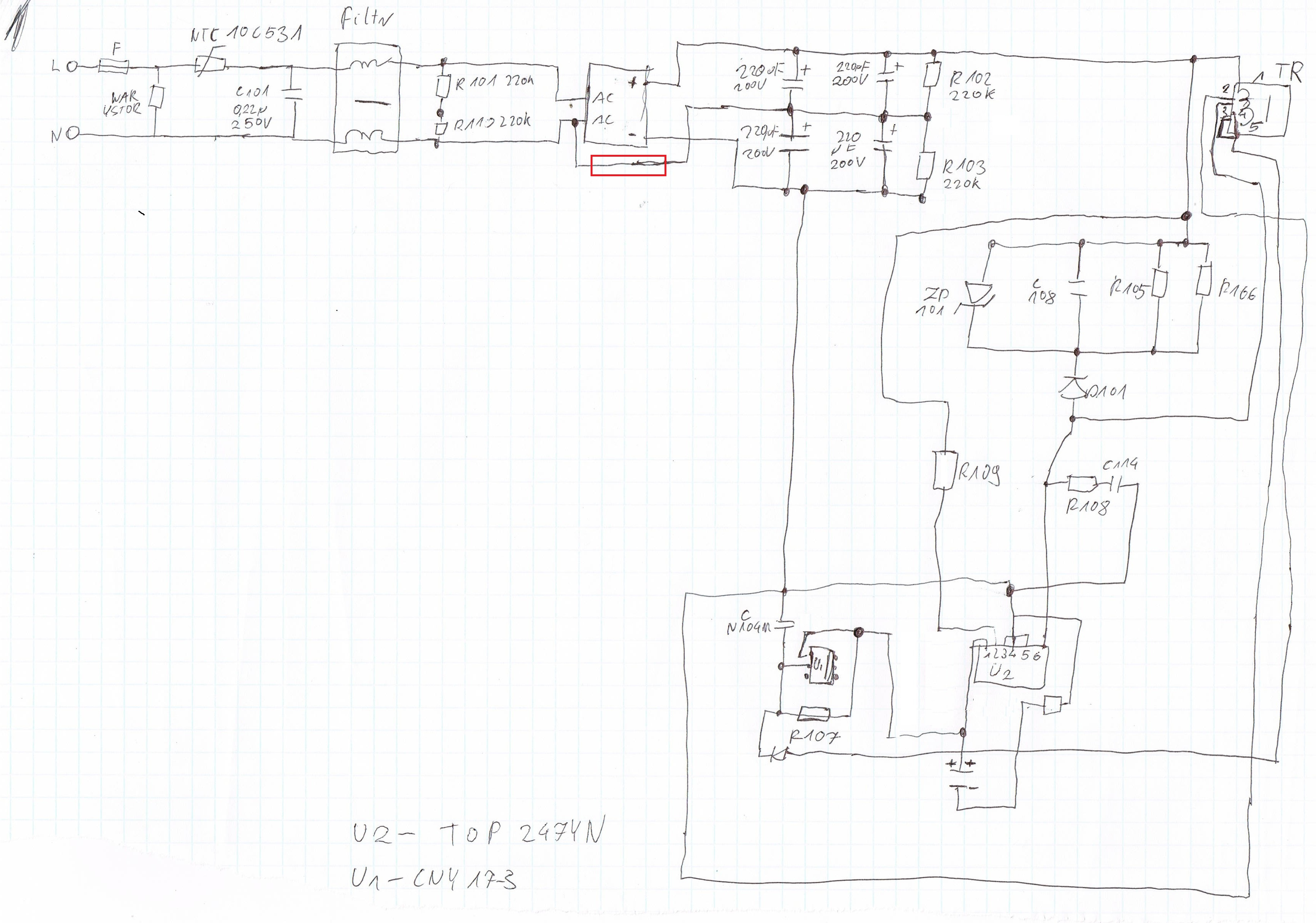 �adowarka baterii wiertarki - Modyfikacja zasilania na 230V