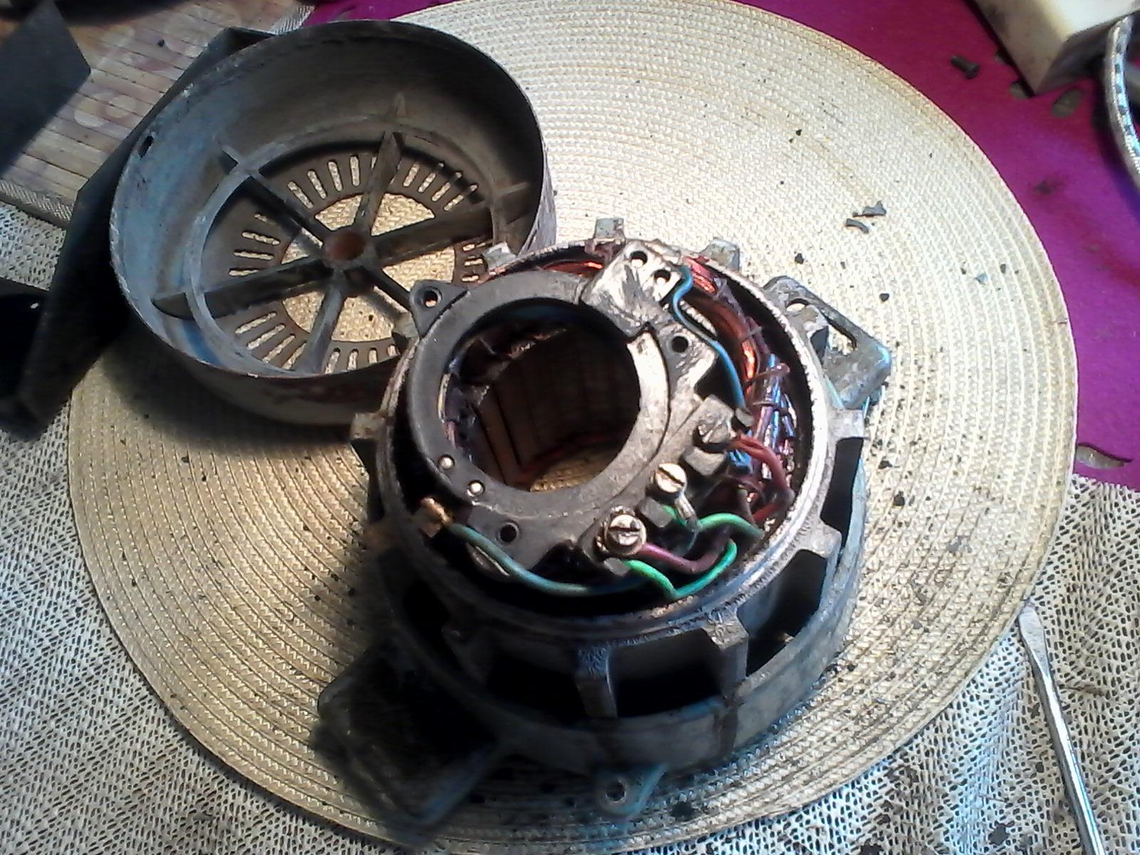 Silnik z pralki frani jako pr�dnica