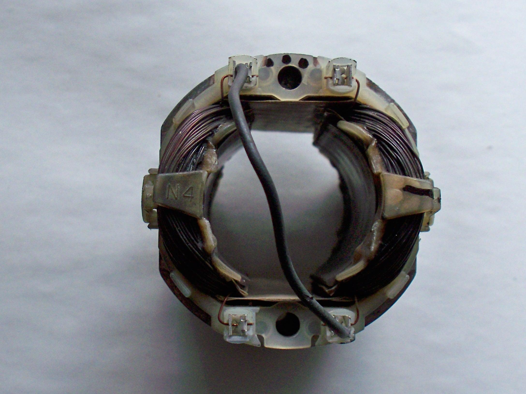 Przezwojenie stojana wiertarki Makita 550W, pod��czenie wy��cznika
