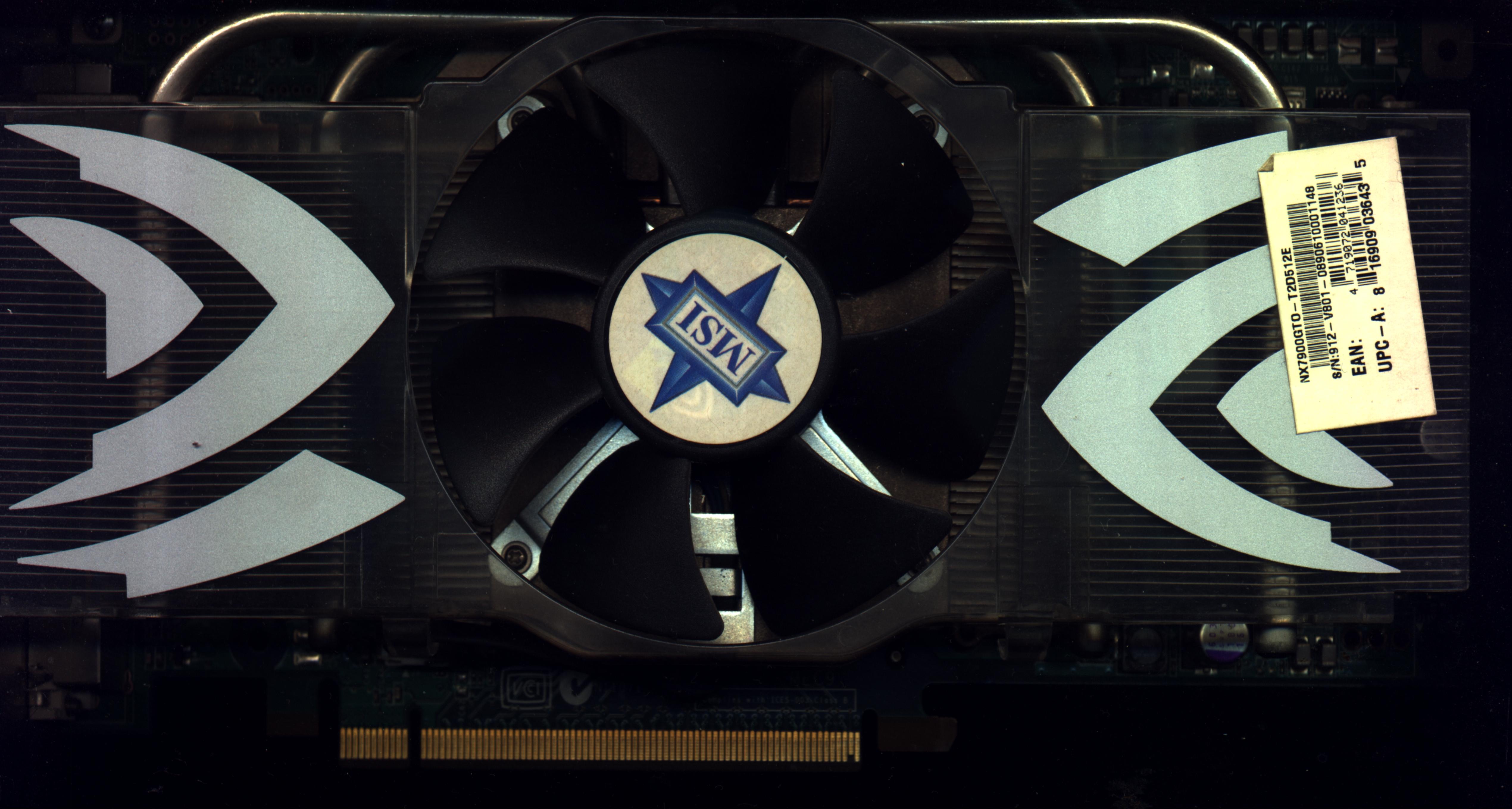 MSI Geforce 7900 GTO - Uszkodzona sekcja zasilania?