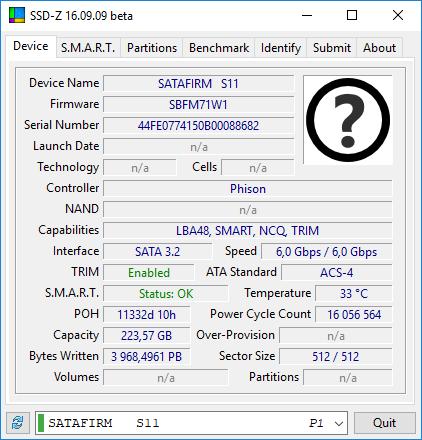 Silicon Power S55 240GB - visible as SATAFIRM S11 - elektroda com