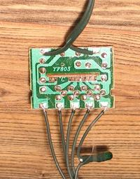 Płytka od lampek choinkowych - Gdzie przylutować kabel zasilania