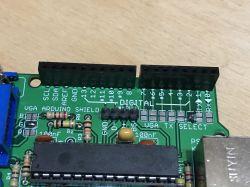 Arduino VGA Shield wraz z mini demkiem - parsing i rysowanie wykresów funkcji