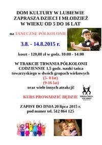 Plakat - taneczne półkolonie w DK Lubiewo.jpg