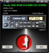 Honda 1SA3 - model 39100-S1A-E000 w jakich komórkach kod