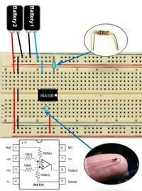 Moduł elektromiografu do pomiarów potencjału elektrycznego mięśni