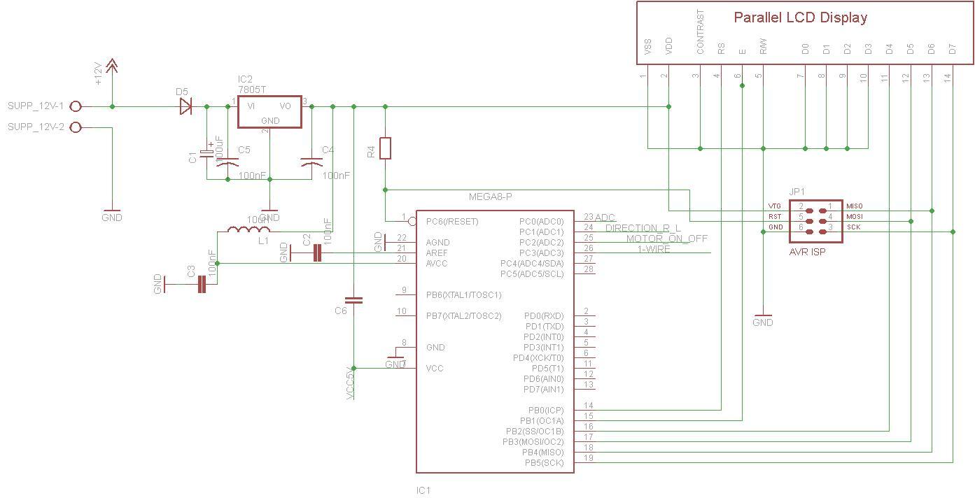 EAGLE - Pro�ba o sprawdzenie schematu ATMEGA8+przeka�niki+ds18b20