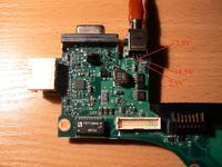 HP nx7400 nie włącza się. Lutowany wtyk zasilacza.