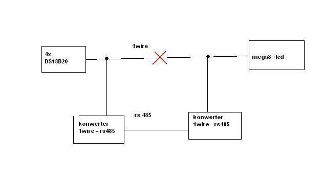 1wire + rs485 konwerter jako przed�u�acz 1wire