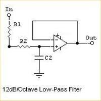 Filtr dolnoprzepustowy aktywny do subwoofera-potrzebny kalkulator rezystorów i k