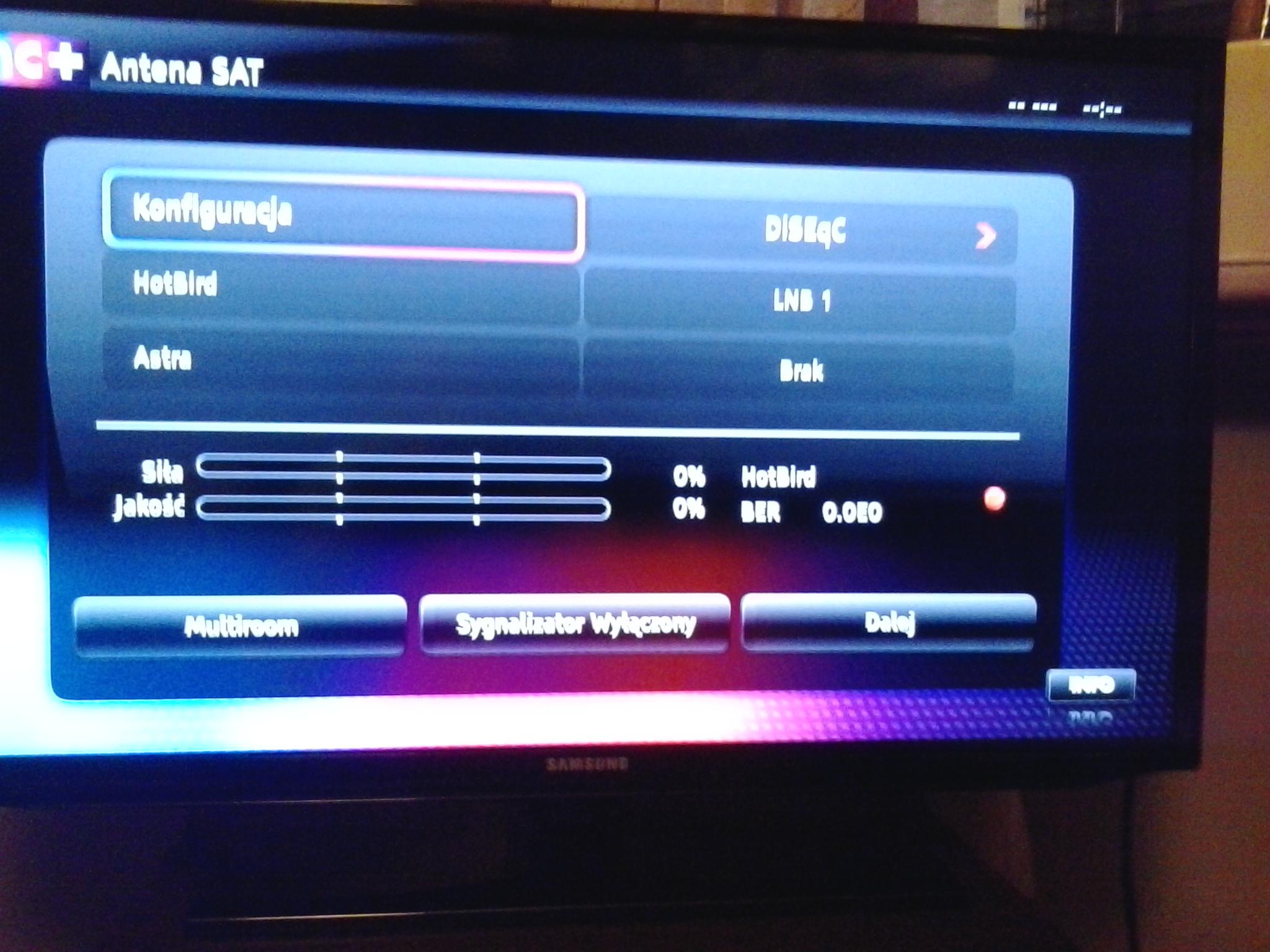 Pod��czenie dekodera Nc+ do anteny (konfiguracja niekompletna)