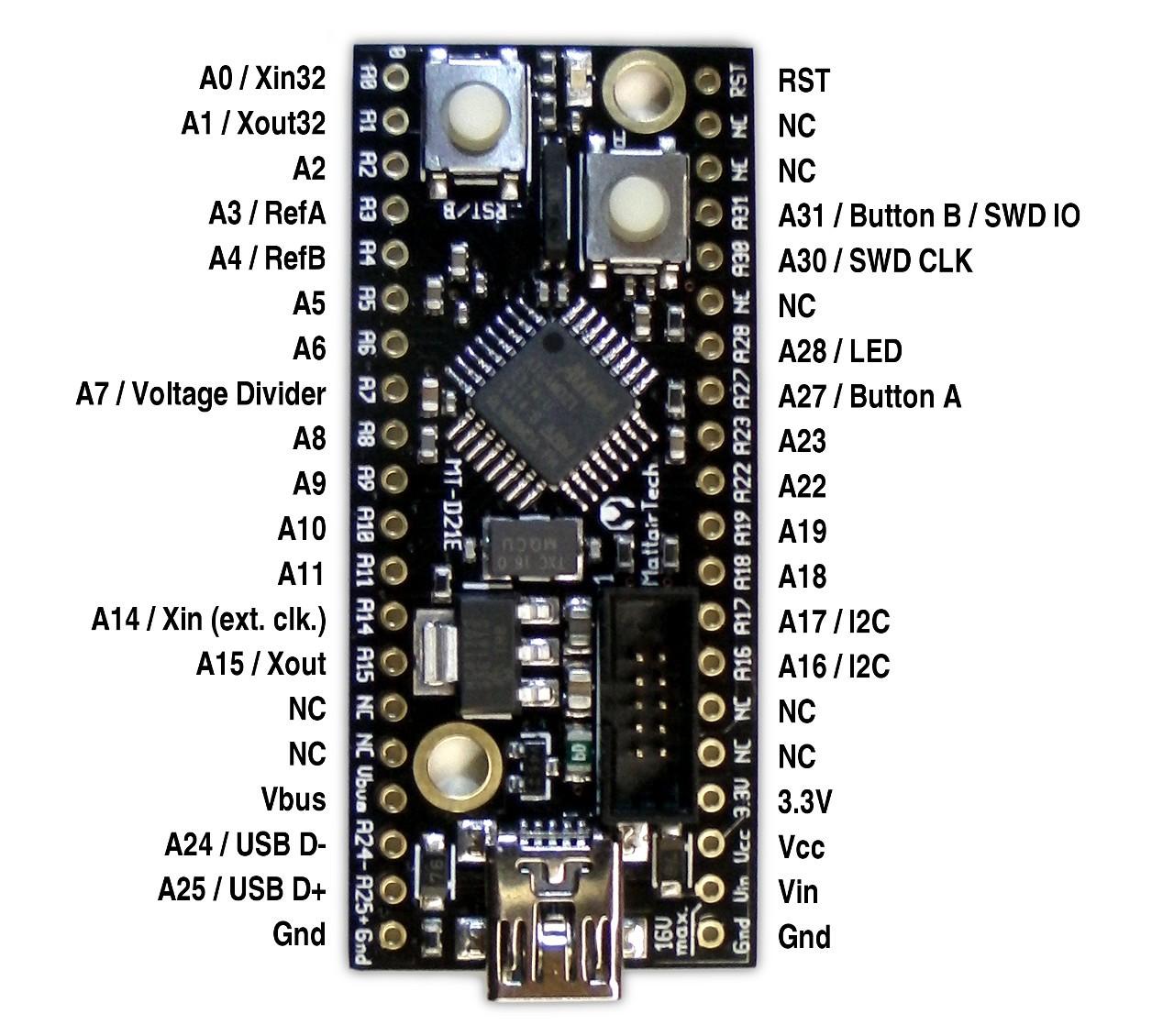 Mattairtech mt d e alternatywa dla arduino zero