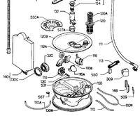 Zmywarka Zanussi ZW414 - nie działa pompa myjąca