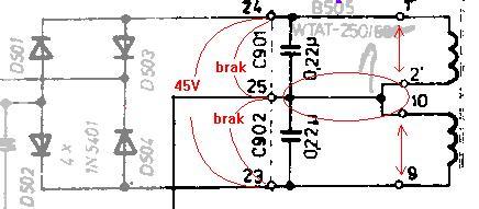 AWS 303 TOSCA-problem po wymianie tranzystorów