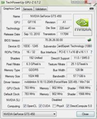 MSI G41M-P26, C2Q Q6600, Gainward GF GTS 450 1GB DDR5 - wyłączający się monitor