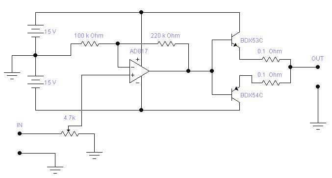 Poprawno�� schematu bufora do generatora funkcyjnego