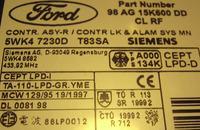 Oznaczenia w centralnym zamku Mondeo MK2 2000r. pilot radiow