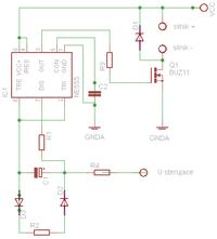 NE555 PWM + regulacja zewnętrznym napięciem/prądem