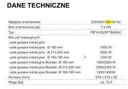 Indukcja PIE6541NSU AMICA - Podłączenie na 2/3fazy