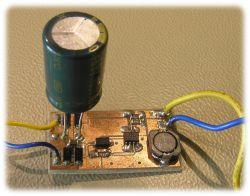 Lampka rowerowa 1W zasilana dynamem w piaście koła (MAX16822)