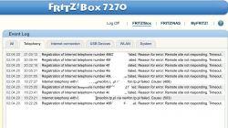 VoIP neostrada na FRITZ-zrywa połączenie
