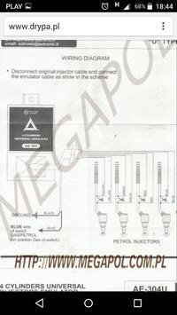 Citroen ZX 1.4i BRC BLITZ - Podłączenie emulatora wtrysku AUTRONIC AE-304