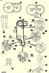 Seat arosa 1.0 - Ustawianie rozrządu schemat