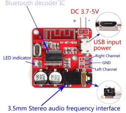 Moduł audio BT, para nadajnik-odbiornik