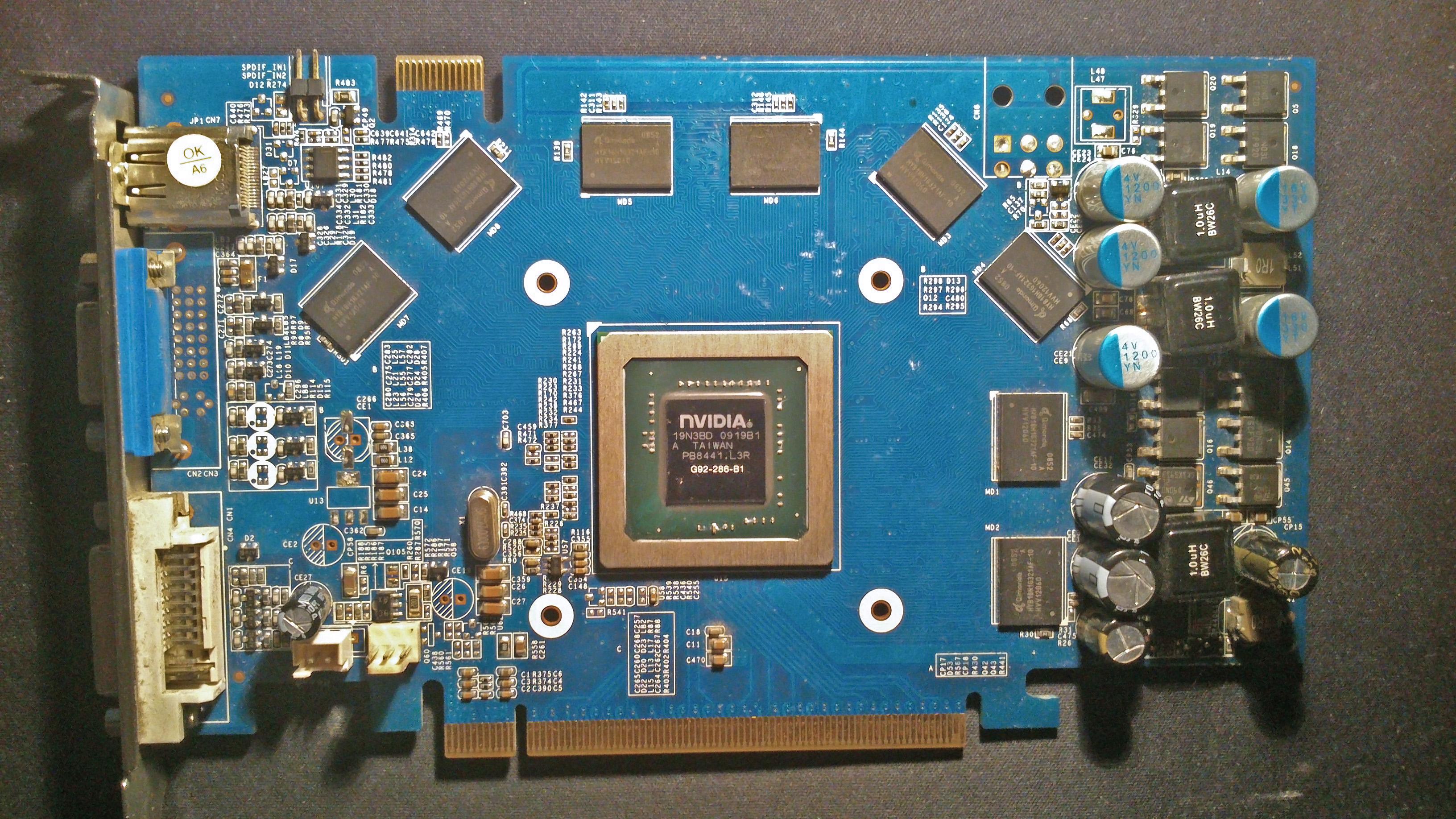 GeForce 9800GT - Karta nie odpala.