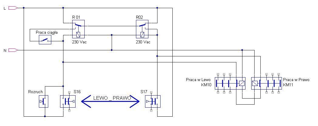 Sterowanie silnikiem 3-fazowym lewo prawo + kra�c�wki (automat)