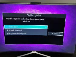 Samsung UE49K6370SS Curved - Sterowanie głośnością pilota z TV głośników zewnętr
