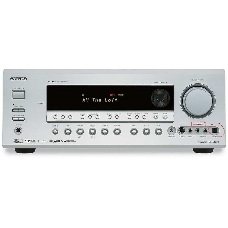 Onkyo tx-sr 603e - Brak dźwięku na wejściu cyfrowym