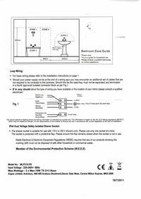 Lustro �azienkowe - schemat instalacji elektrycznej i zwiazane z tym problemy