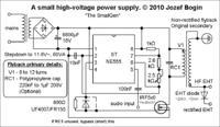 Generator Wysokiego napi�cia na ne555p.