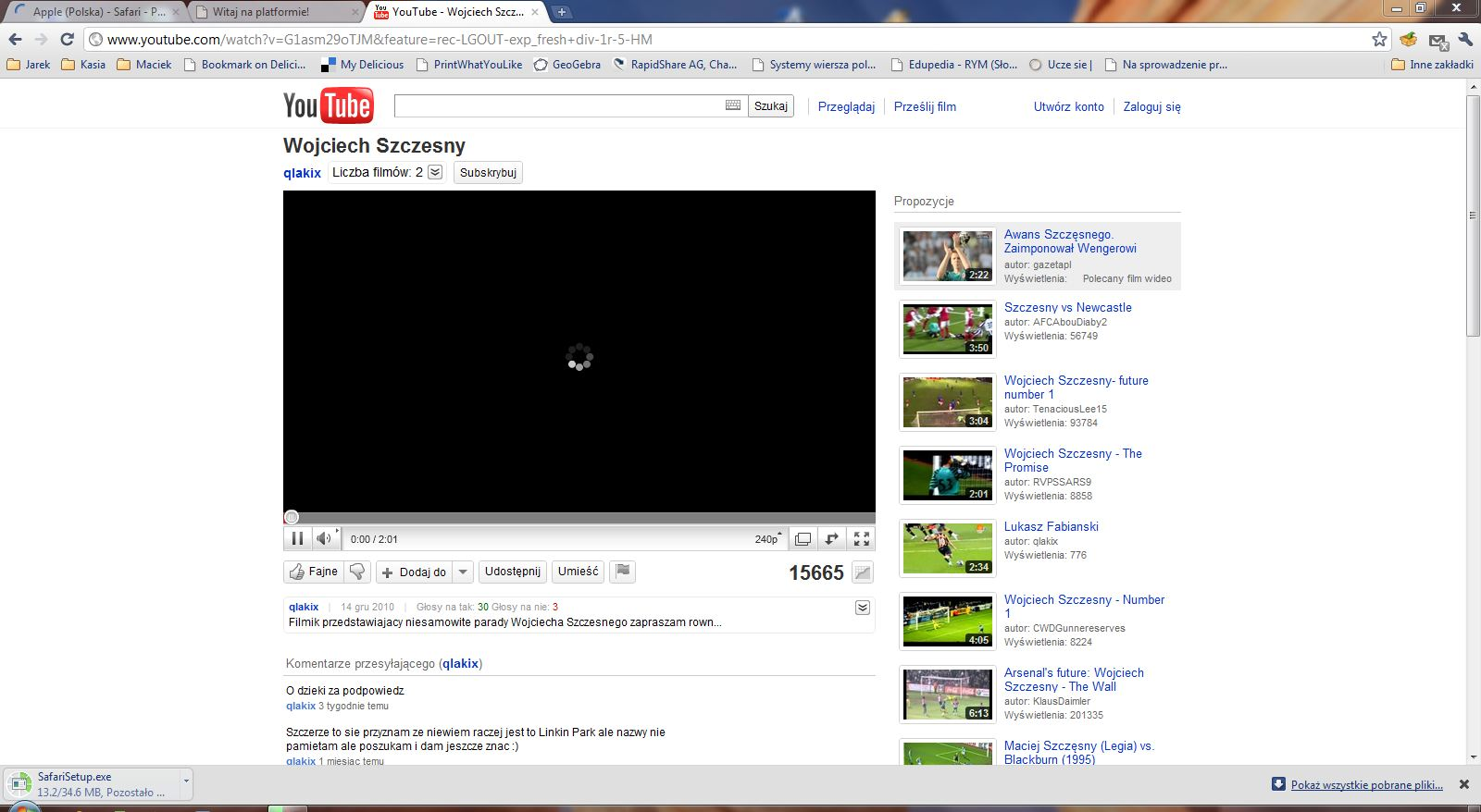 brak paska otwarzania youtube