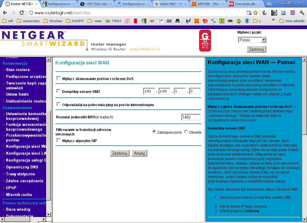 <VECTRA>Jakie dane skopiować by rozpocząć konfigurację sieci.