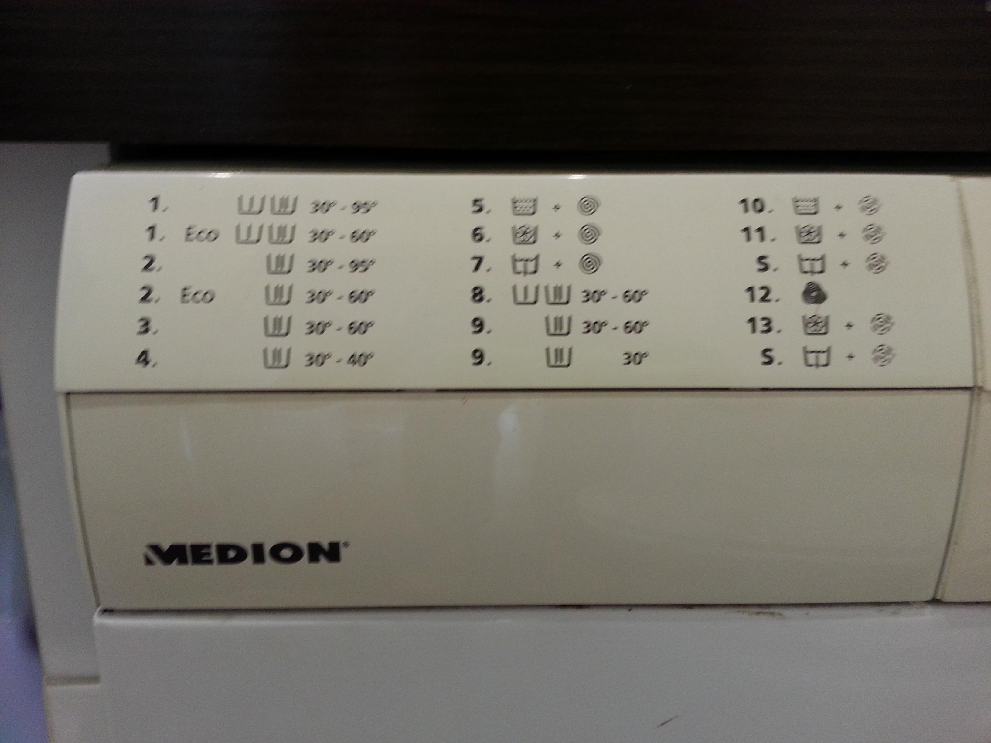pralka automatyczna medion (nie znam konkretnych danych) - szukam instrukcji
