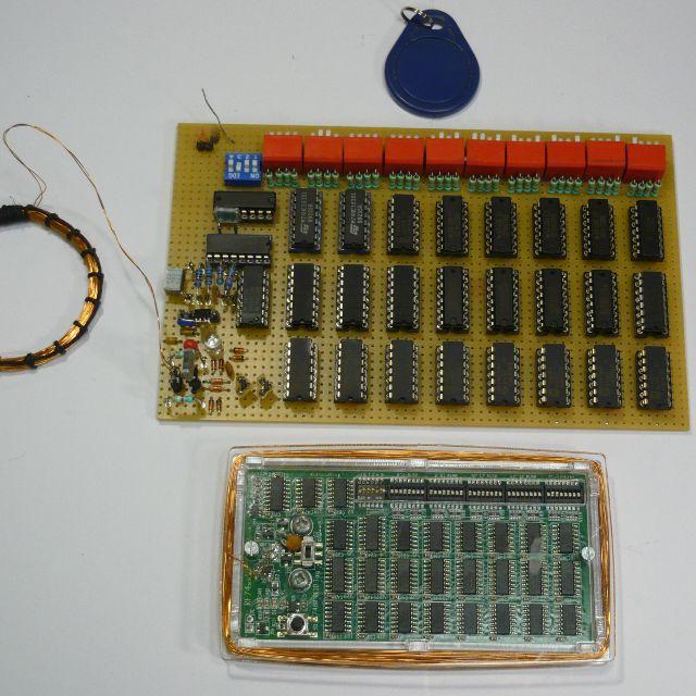 Emulator tag�w RFID wy��cznie na uk�adach serii 74xx