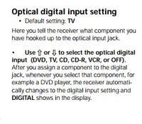 Pioneer VSX D511 - Brak dźwięku po kablu optycznym