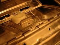 Pralka Candy CTE 121 LE - uszkodzone metalowe drzwiczki od bębna pralki