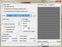 Check Flash 1.16 - formatowanie nośników danych i wyszukiwanie fizycznych błędów