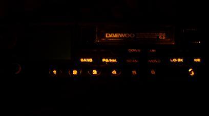 radio daewoo + dziala tylko podswietlenie. Złe zasilanie?