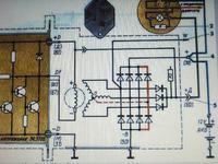 alternator magneton 90A -schemat podłaczenia