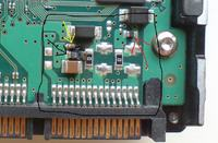 HDD Samsung SP2504C uszkodzenie elektroniki, spalony element