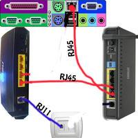 Połączenie dwóch routerów ze sobą Asmax AR1004 i DSL-2640B