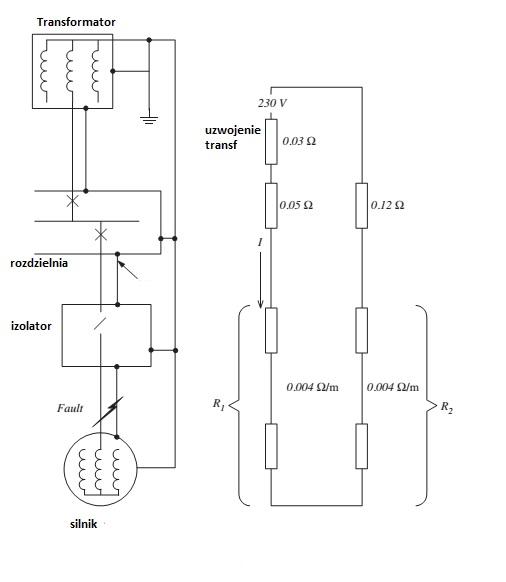 silnik tr�jfazowy i impedancja