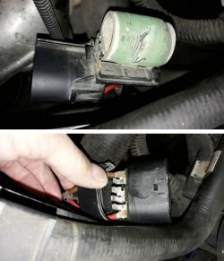 Astra H 1.6XEP - repair of the 1st speed of the radiator fan